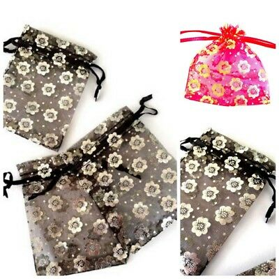 20 Organza Jewellery Gift Bag Pouches Weddings Favours - 7cm x 9cm - lady-muck1