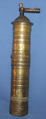 19c Antique Turkish Ottoman brass coffee grinder mill