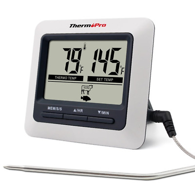 ThermoPro TP04 Digital Bratenthermometer Ofenthermometer mit integriertem Countd