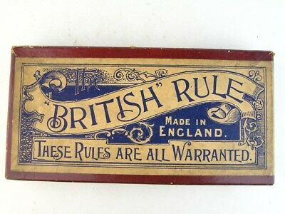 26962 Old Vintage Antique Tin Fountain Pen Nib Box Case The British Rule Ruler