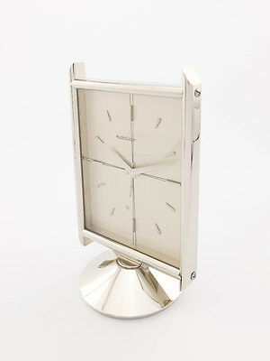 Super rare Jaeger-LeCoultre table clock with 8-day movement and alarm 1950´s