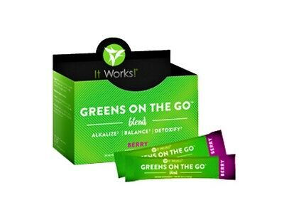 It Works! Greens on the Go Blend Packets - Berry Flavor - Unopened Exp 7/2018