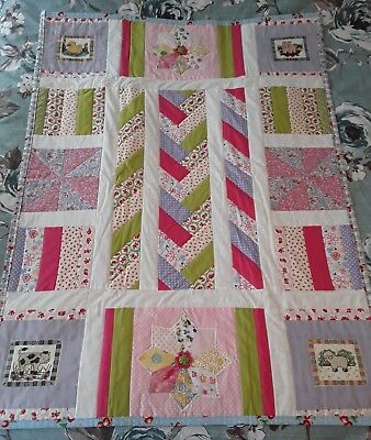 Patchwork Baby Quilt Hand Made Animal