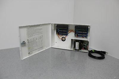 ESD PDA-16ET8 CCTV Camera Power Supply 24 VAC 7.3a 16 Circuit Outputs FREE S&H