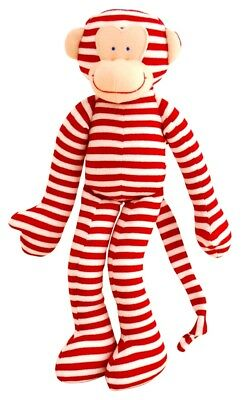 Alimrose Designs Baby Toy Rattle Monkey Red Stripe 30cm