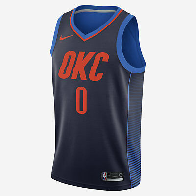 competitive price abff8 dddf5 NIKE MEN'S RUSSELL Westbrook Statement Edition Swingman Jersey Blue  877216-419 b