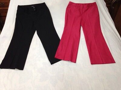 2 pc Sz 8 Mixed Lot Women's Casual Business Pants, 1 Rafaella, 1 New Directions