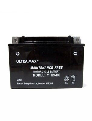 Ultramax Bike Motorcycle battery Maintenace Free TTX9-BS AGM Dry 12v 9Ah AS YTX9