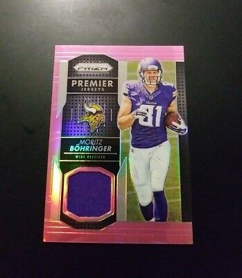 Moritz Böhringer Vikings RC Rookie Jersey Refractor Card Panini Prizm 2016 NFL