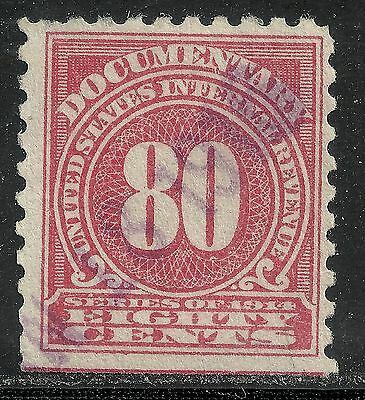us revenue documentary stamp scott r205 - 80 cents issue of 1914