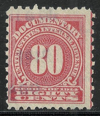 us revenue documentary stamp scott r216 - 80 cents issue of 1914 - #3