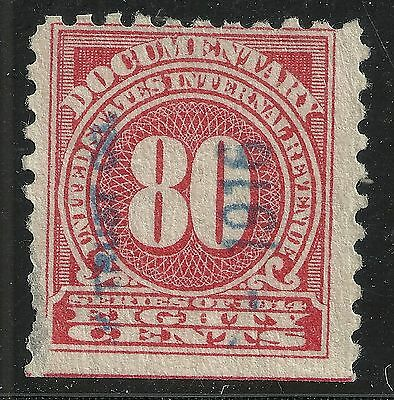 us revenue documentary stamp scott r216 - 80 cents issue of 1914 - #4