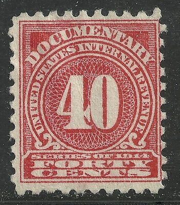 us revenue documentary stamp scott r214 - 40 cents issue of 1914