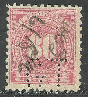 us revenue documentary stamp scott r216 - 80 cents issue of 1914