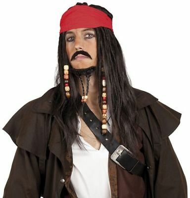 Parrucca Adulto Pirata Jack Sparrow