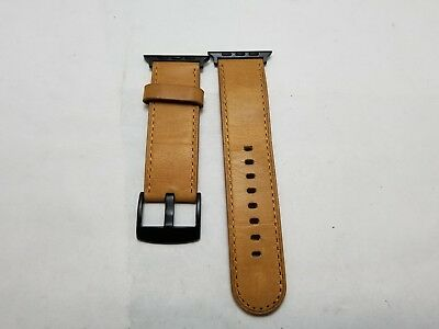 Platinum - Genuine Leather Watch Strap for Apple Watch 3,2,1 42mm - Old saddle