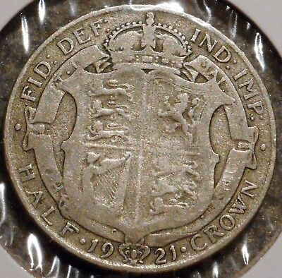 British Silver Half Crown - 1921 - King George V - $1 Unlimited Shipping