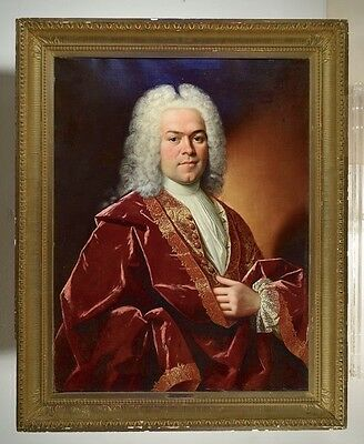 Hyacinthe Rigaud 18th Century French Portrait of Aristocrat Oil Painting