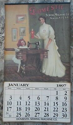 Vintage Advertising Calendar 1897 Domestic Sewing Machine Co.