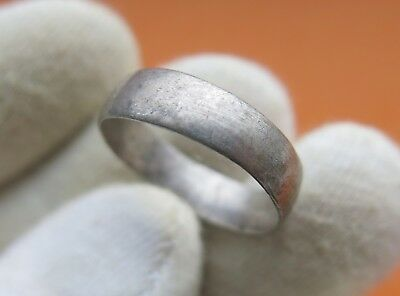 Ancient Medieval Silver Wedding Ring