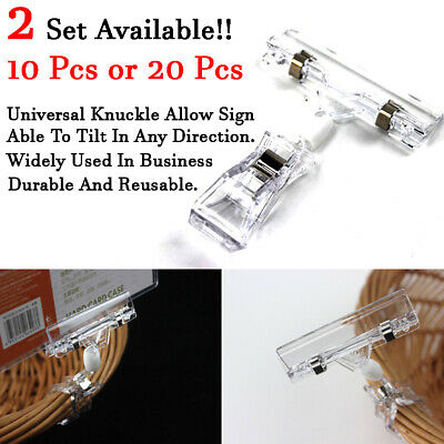 New Business Advertising Sign Holder Clip 10/20 pcs Label Menu Price Name Tag