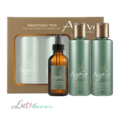 Agave Smoothing Trio SET (Shampoo, Conditioner & Oil Treatment)