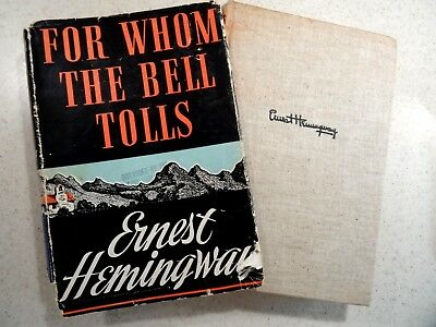 1943 For Whom the Bell Tolls by Ernest Hemingway Hardcover / DJ – Scribner's Son