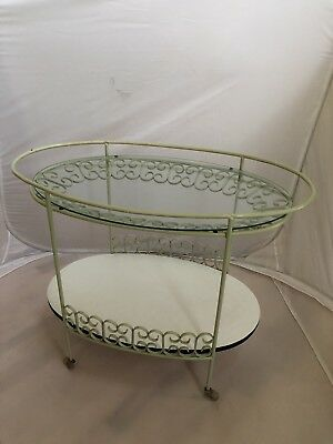 Mid Century Tea Bar Cart Umanoff Granada Iron Patio Vintage Shaver Howard Boyeur