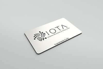 10,000,000 IOTA (10 MIOTA) Crypto Currency On CryptoKeeper™ IOTA PVC Wallet Card