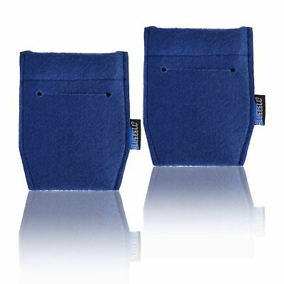 Top quality 2-Piece Pocket Square Card Holder for Man's Suits Marine Blue Colo