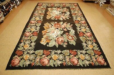 c1920s ANTIQUE FINELY WOVEN BESSARABIAN KILIM FLAT WOVEN RUG 6.8x12.3 HIGH KPSI