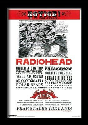 RADIOHEAD FEAR NOTICE 13x19 FRAMED GELCOAT POSTER MUSIC ROCK ENGLAND OK COMPUTER