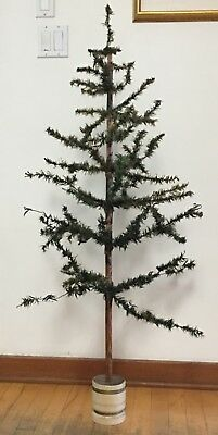 "Antique 50"" Feather Tree in turned wood base"