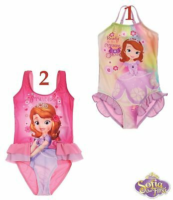 New Girls Official Disney Princess Swim Suit Swimming Costume Age 2