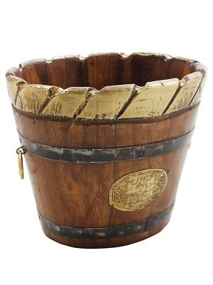 Christmas Gifts Wooden Bucket Planters Classic Vintage Looks for Home Garden Acc