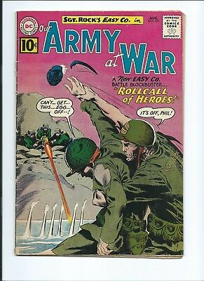Our Army At War 109 - G/vg 3.0 - Sgt. Rock And Easy Company Appearance (1961)