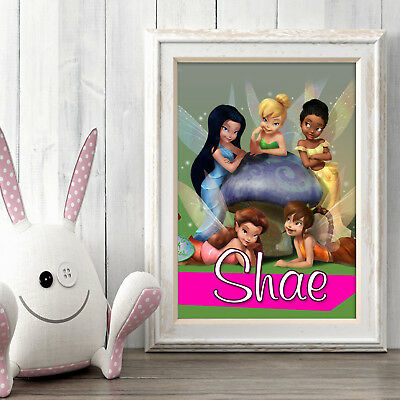 DISNEY FAIRIES Personalised Poster A5 Print Wall Art Custom Name✔ Fast Delivery✔