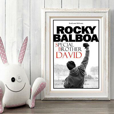 ROCKY BALBOA Personalised Poster A5 Print Wall Art Custom Name ✔ Fast Delivery ✔