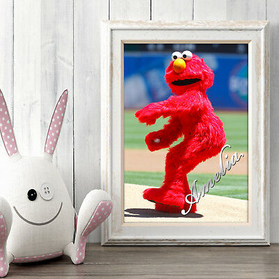 ELMO Personalised Poster A5 Print Wall Art Custom Name ✔ Fast Delivery ✔