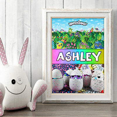 HATCHIMALS Personalised Poster A5 Print Wall Art Custom Name ✔ Fast Delivery ✔