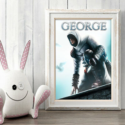 Assassin's Creed Personalised Poster A5 Print Wall Art Any Name✔ Fast Delivery✔