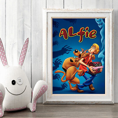 Scooby-Doo Personalised Poster A5 Print Wall Art Custom Name ✔ Fast Delivery ✔
