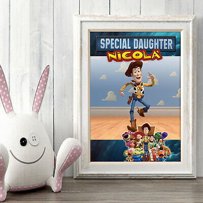 TOY STORY Personalised Poster A5 Print Wall Art Custom Name ✔ Fast Delivery ✔