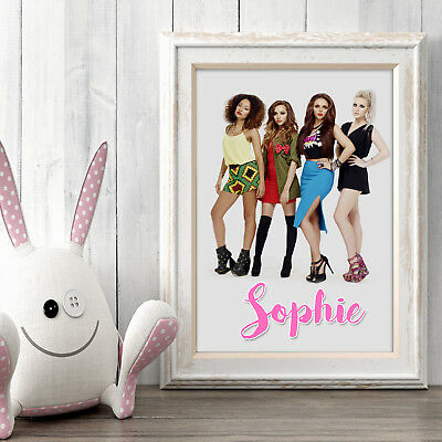 LITTLE MIX Personalised Poster A5 Print Wall Art Custom Name ✔ Fast Delivery ✔