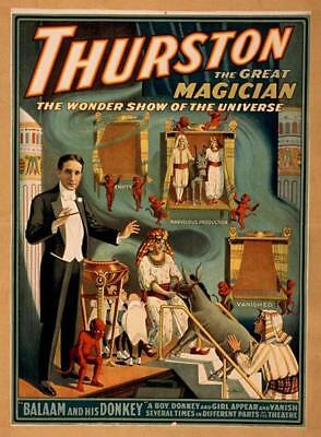 Thurston the Great Magician, The Wonder Show of the Universe - Vintage Poster