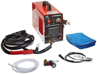 50 Amp Compact Inverter Plasma Cutter for Metal Dual Voltage 110/220V 1/2 in Cut