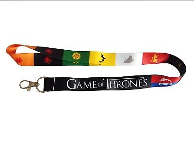 Game of Thrones assorted lanyards/keychains with clip for keys or id badges.