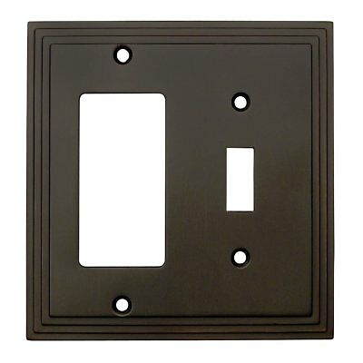 Cosmas 25077-ORB Oil Rubbed Bronze Single Toggle / GFI Decora Rocker Combo Wall
