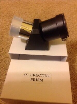 1.25 Inch 45 Degree Erecting Image Star Diagonal Prism For Refractor New