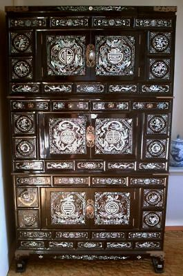 "Korean cabinet 69"" high chest, Mother of Pearl, Asian / Oriental - LOCAL PICKUP"